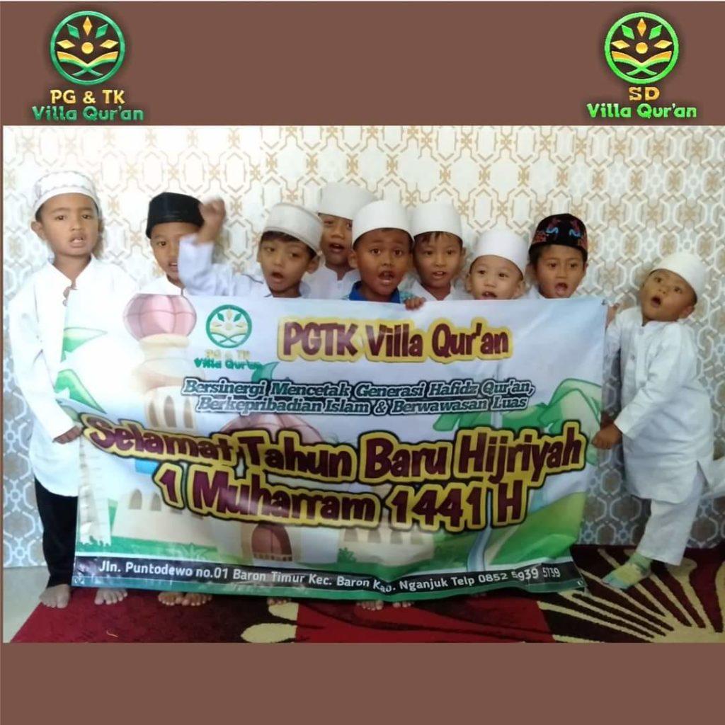 Foto Bersama Siswa PG TK Villa Qur'an Peringatan 1 Muharram 1441 H