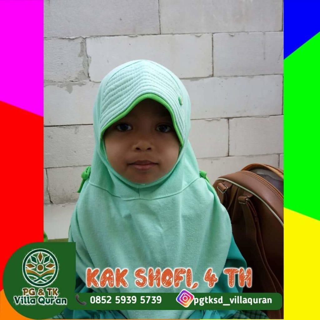 Ananda Alimah Rahmah Ash Shofi (Siswi TK Villa Qur'an)