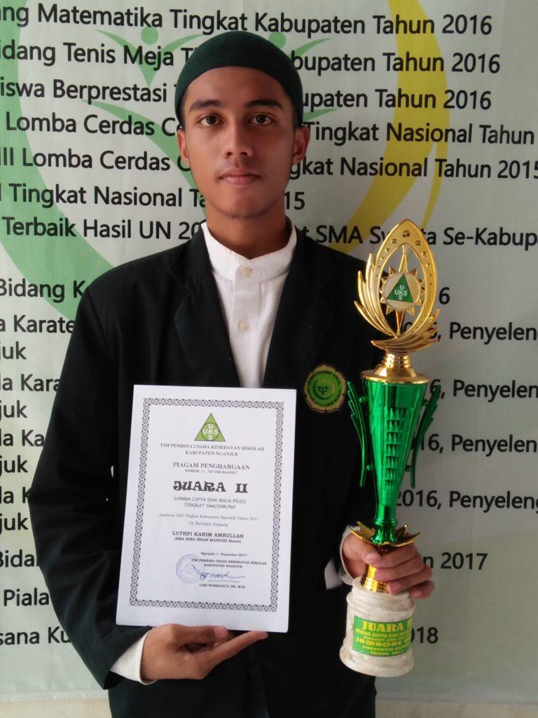 Juara II Lomba dan Cipta Karya Puisi UKS Se Kabupaten Nganjuk