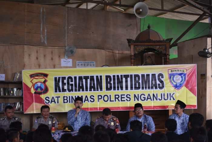 Sambutan Kepsek SMA BIMA di Kegiatan BINTIBMAS SAT BINMAS Polres Nganjuk