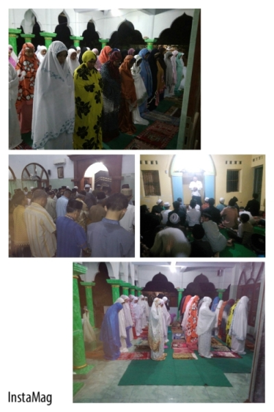Para Santri Putra - Putri Villa Qur'an Sholat Gerhana Bulan Bersama Masyarakat