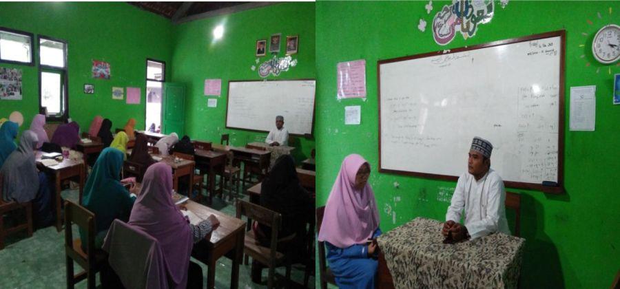 Para Santri Putri Setoran Hafalan Al Qur'an ke Al Mukarom Ust Muhammad Bahron