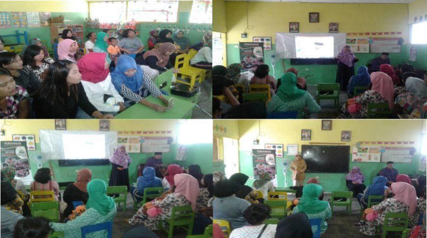 Marketing Kreatif SD Al Qur'an Al Hanif Melakukan Sosialisasi di TK Pertiwi Geneng Kecamatan Jombang