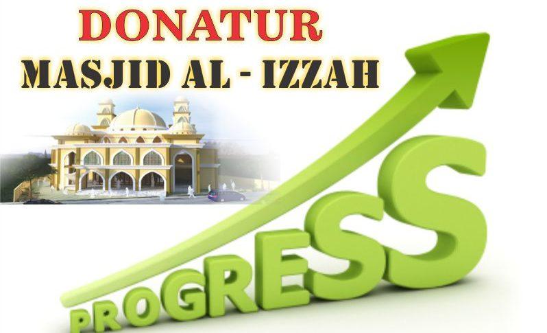 progres donatur masjid al izzah